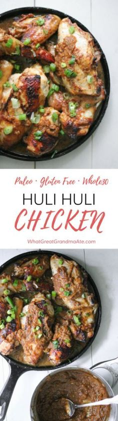 clean eating recipe: Hawaii's popular dish, Huli Huli Chicken, is made gluten free and paleo, and it's so delicious you won't be able to stop eating it!