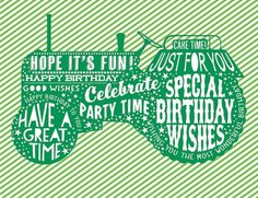 Typography Tractor Birthday Card. Find at DesignDesign.us