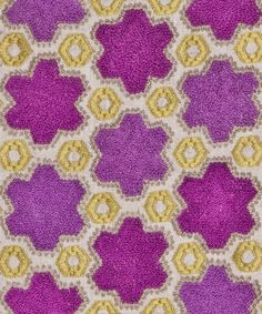 PETIT PRISME FUSCHIA from the VANDERHURD EMBROIDERY COLLECTION. #handembroidery
