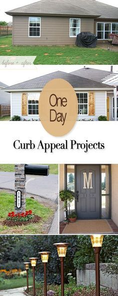 One Day Curb Appeal Projects • Easy DIY project you can do in just one day to improve your curb appeal and the value of your hom