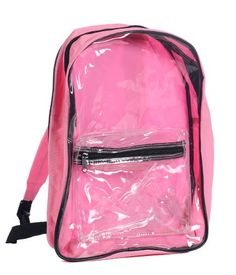 6e81e49ca7 Clear PVC Security Backpack Pink by BAGS FOR LESSTM -- Be sure to check out