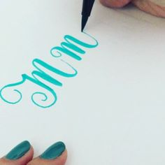 "Letter ""M"" for today's #letterarchive_m #letterarchive video speed x2 Pen: #tombow brush pen"