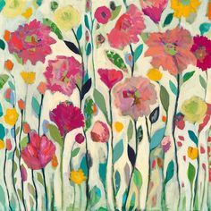 She Lived Her Life in Full Bloom by Carrie Schmitt | Inspiration for painting, at ClothPaperScissors.com #flowers #art #mixedmedialove