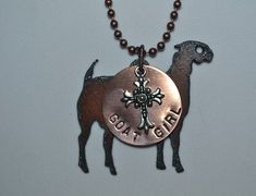 Rustic Rusty Rusted Recycled Metal FFA Goat by BlessingMercantile