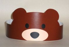 Bear Paper Crown – Printable  |   Crafts and Worksheets for Preschool,Toddler and Kindergarten
