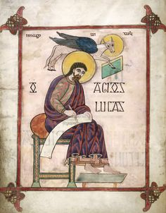 Lindisfarne Gospels - St Luke f. 137v  British Library Early Anglo-Saxon – Scotland – 7C or 8C