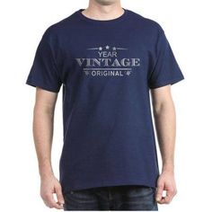 Cafepress Personalized Birthday Vintage Original Dark T-Shirt, Size: 3XLarge Tall (+$3.00), Blue