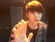 I love how he's not afraid of the camera anymore ^^ (well not afraid... But he's not as shy) Vixx Leo <3