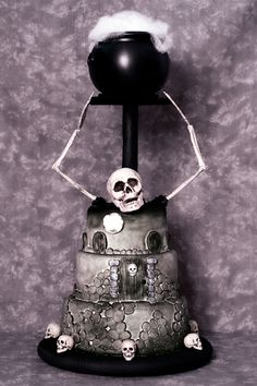 Halloween Skeleton Cake