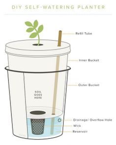 Build a self watering container do it yourself organic gardening diy self watering planter may 7 2014 read more solutioingenieria Choice Image