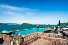 The bungalows on the private island of Porto Frado, a small resort about 30 minutes from Angra dos Reis, Kings Bay, and three hours west of Rio de Janeiro, are not your 'normal' abodes...