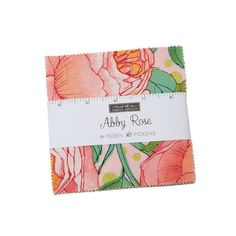Abby Rose Charm Pack by Robin Pickens for Moda 42 squares 5 x Premium Cotton. I wanted these cabbage roses to still have a pop of color and liveliness so the soft pink and cream backgrounds are joined by lively orange vibrant green se Hancocks Of Paducah, Blush Peonies, Fabric Squares, Coordinating Fabrics, Charm Pack, Color Stories, Square Quilt, Floral Fabric, Fabric Design