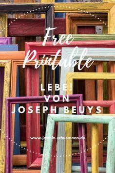Mein Lieblings-Gedicht von Joseph Beuys als PDF-Print in meinem Blog.