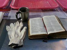 이른 아침 기도와 말씀의 시간을 갖는중에 찾아오신 손님....추운 아침에 어디를 가시는지 ....얼어서 붉게 튼 손이 유독 눈에 들어오는 손님....저의 따듯한 생강차 한잔과 .....