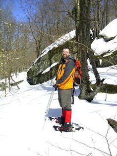 Snowshoeing Around Frick Pond - Catskill Mountains, NY