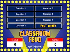 I love Family Feud! Classroom Feud PowerPoint Template - Plays Like Family Feud Study Websites, Teacher Websites, Teacher Resources, Teaching Technology, Educational Technology, School Classroom, Classroom Activities, Classroom Ideas, Future Classroom
