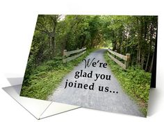 New Employee Welcome, Road to Success, Rural Scene card