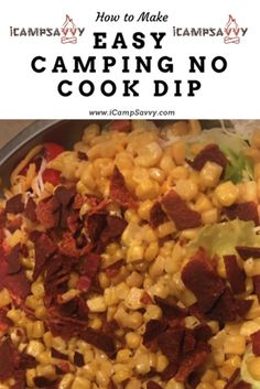 Camping Food and Dips: After a long day of hiking, fishing, mountain biking, or any other sort of camping activity, we can work up quite an apatite. Sometimes these appetites need to be satisfied quickly and cooking for a large group of people can be a ch
