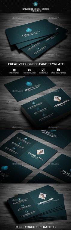 Creative Geeks Business Card Template  #template #creative #business