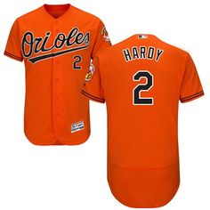 5e3f6642b Orioles  2 J.J. Hardy Orange Flexbase Authentic Collection Stitched MLB Jersey  Orioles Baseball