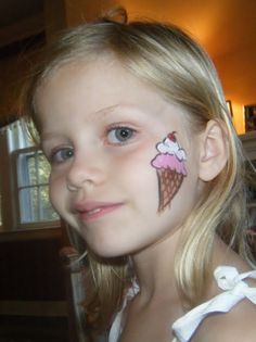 face paint ice cream cone   Adventures of a Face Painter: I Made Their Day, They Made Mine