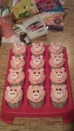 Cupcake pigs made for RSPCA cupcake day 2012