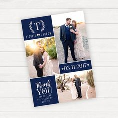 Photo Thank You Card, Personalized Wedding Thank You Card With Photo, Printable Thank You, Wedding Photo Thank You Card, Thank You Notes