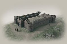 Auldhill Dun illustrated historical reconstruction