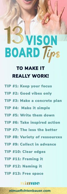 How to keep motivation & learn how to create a vision board that works! Here are 13 tips to avoid lacking motivation and success. Power Of Vision, 2020 Vision, Vision Board Template, Goal Board, Creating A Vision Board, Images And Words, Self Improvement, How To Plan, Humor
