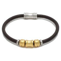 Stainless Steel Genuine Leather Bracelet