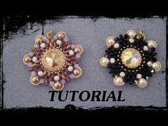 """▶ Tutorial Perline: Ciondolo """"FLOWER"""" realizzato con perline delica, rocaille, superduo e swarovski - YouTube"""