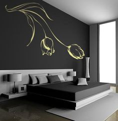 One idea for our bedroom with a vaulted ceiling