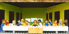 Copia d'arte Lego - The last supper - Ultima cena - Leonardo da Vinci - www. Lego Painting, Da Vinci Last Supper, Walt Disney, Lego Photo, Lego Blocks, Cool Lego Creations, Lego Worlds, Saatchi Online, Classical Art