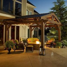 Complete the look of your Lodge II wood pergola, while gaining extra protection from the sun and rain by adding this forest green metal roof. This easy-to-install roof gives your pergola a full roof closure and protection. Diy Pergola, Wood Pergola Kits, Building A Pergola, Wooden Pergola, Outdoor Pergola, Outdoor Rooms, Backyard Patio, Backyard Landscaping, Outdoor Living