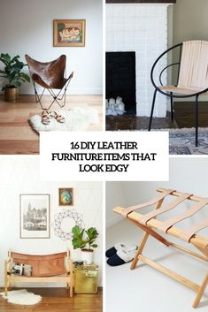 16 DIY Leather Furniture Items That Look Edgy | Shelterness