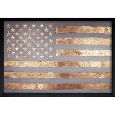 "Mercury Row Rocky Freedom Framed Graphic Art Size: 22"" H x 32"" W x 0.5"" D, Frame Color: Black"