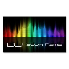 DJ  Business Card. Make your own business card with this great design. All you need is to add your info to this template. Click the image to try it out!