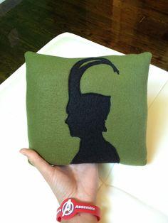Loki Silhouette Pillow by neutralocean on Etsy, $24.00. I need one!!