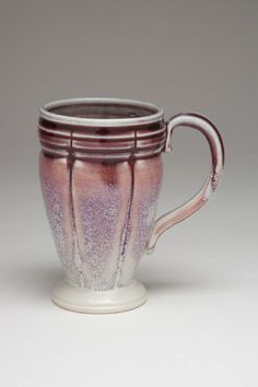 Stoneware Gallery - Gradations of red purple, purple and white Glazes For Pottery, Pottery Mugs, Ceramic Pottery, Slab Pottery, Stoneware Mugs, Ceramic Cups, Ceramic Art, Stars Disney, Clay Cup