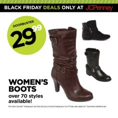 ddcf65659554 JCPenney Black Friday Deal. Unwrap our biggest savings—like women s boots
