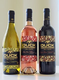 Duck Dynasty!!  Just had the red wine tonight called Triple Threat. I'm not a wine drinker at all but this was YUMMY!!!!!  Thank you Grandma for bringing this over.   Bottle is gone.. Gonna get more.