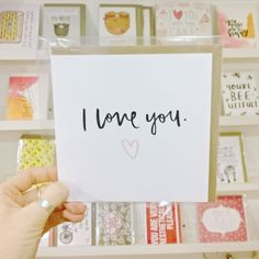New cards in by @katrinasophiart! #iloveyou #valentines #valentinescard #justacard #itsinnottingham #lovenotts #shopnotts #Nottingham #handmadenottingham