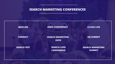 Top 9 Digital Marketing Conferences on Search Marketing