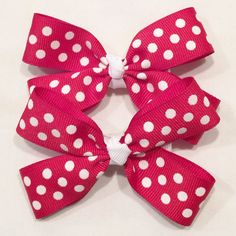 Red Polka Dot Bows by LittleAsAccessories on Etsy
