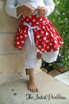 Girls boutique red polka dot PeekaBoo skirt by thejadedprincess, $50.00 So cute for valentines day!