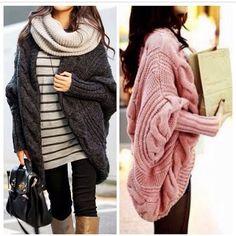 Loose Cape Knitting Coat US$74