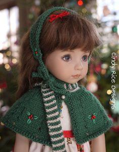 """A Most Magical Season"", a hand made Christmas ensemble made for Dianna Effner's Little Darling dolls, cindyricedesigns.com ."