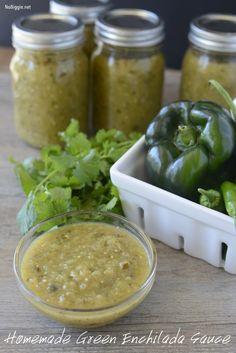 Homemade roasted green enchilada sauce is so good | NoBiggie.net #recipe