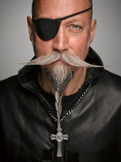 Amazing Facial Hair Designs from the 2014 World Beard and Moustache Championships - My Modern Met Beards And Mustaches, Moustaches, Crazy Beard, Epic Beard, Mustache Styles, Great Beards, Awesome Beards, Sideburns, Men With Grey Hair