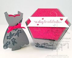 A Day to Celebrate - Lip Balm & Hexagon Box - These beautiful boxes can come empty or filled and be personalized with the bride's colors.